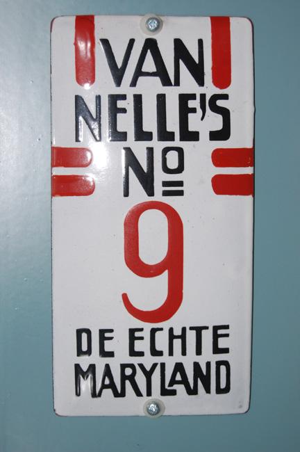 emaille deurpostje bordje van nelle maryland no 9 de echte