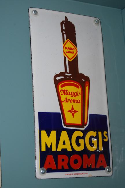 maggis's deurplaatje emaille reclame emaillen reklame