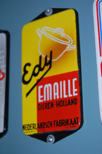 edy emaille reclamebordje