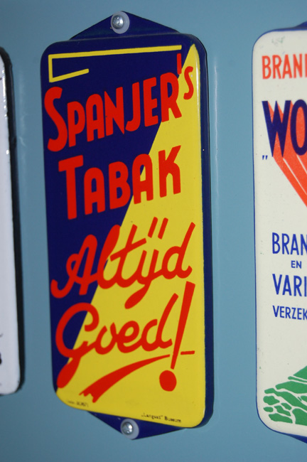 spanjer's tabak emaille reclame