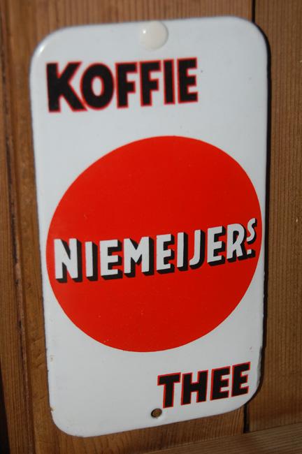 niemeijer's koffie thee reclame emaille