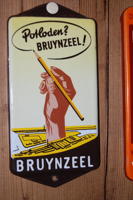 bruynzeel potloden reclame emaille