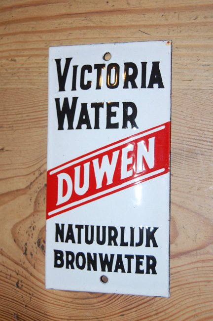 victoria water trekken emaille reclame