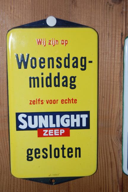 emaille bordje sunlight zeep emaillen reclamebordje