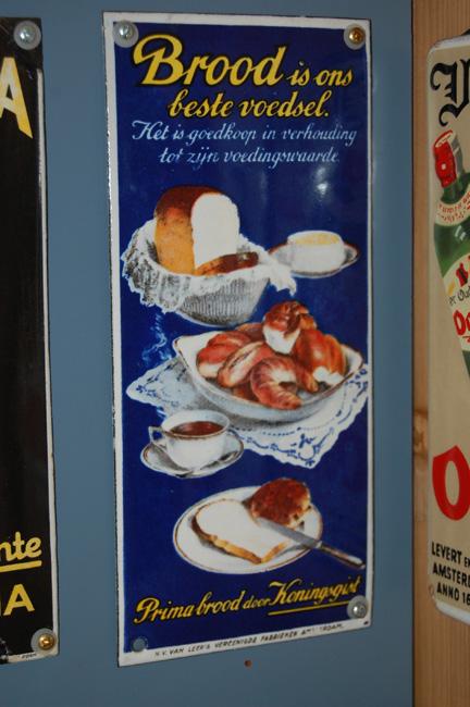 emaille bordje brood is ons beste voedsel het is goedkoop en gezond