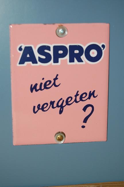 emaille deurpostbordje aspro niet vergeten