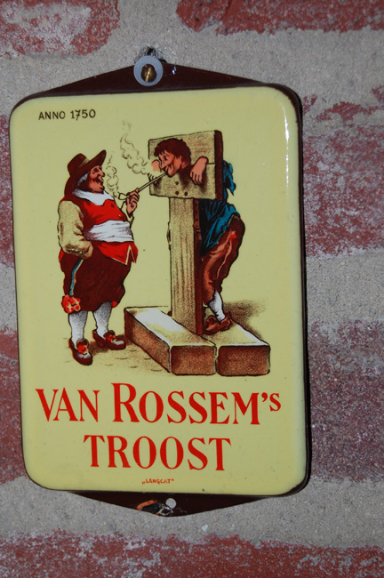emaille-bordje-van-rossems-troost