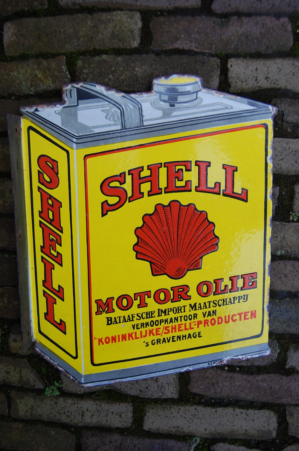 emaille reclamebord shell