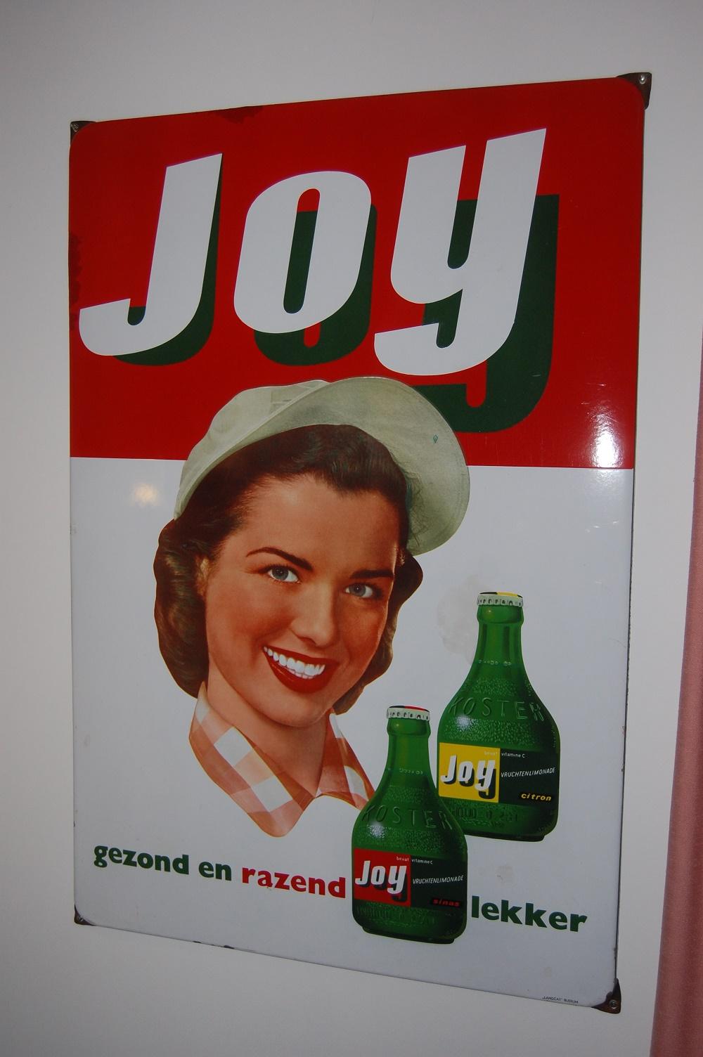 joy gezond en razend lekker emaille reclamebord