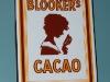 emaille reclamebordje blookers cacao deurpostje