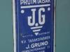 JG tabak groningen emaille reclame