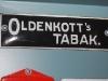 oldenkott's tabak emaille reclabordje deurpostje