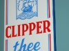 clipper thee emaille reclame deurbordje