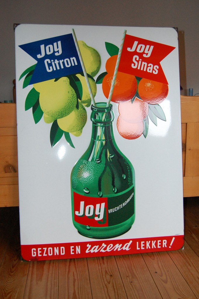 emaille reclamebord joy limonade citrin sinas
