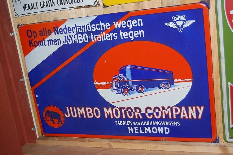 jumbo fabriek van aanhangwagens helmond emaille reclamebord