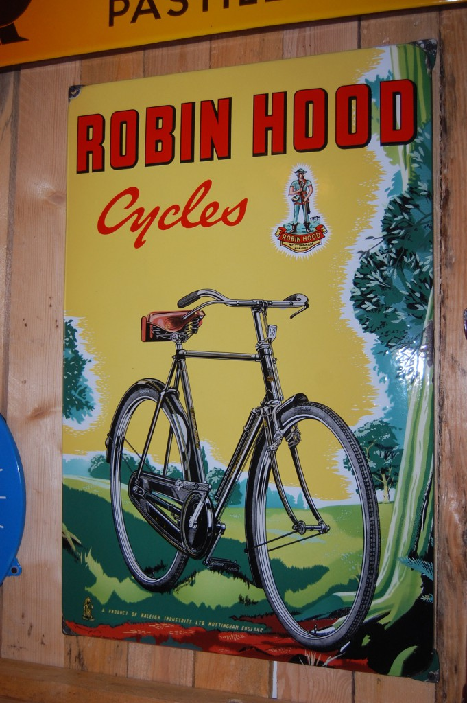 robin hood cycles emaille reclamebord
