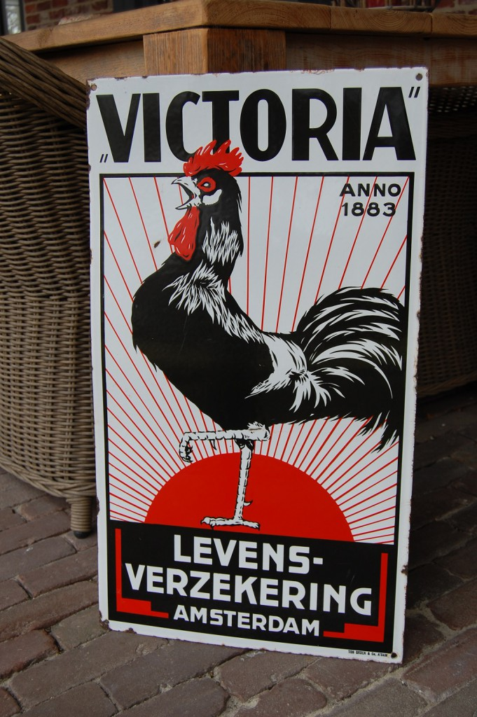 victoria levensverzekering amsterdam emaille reclamebord