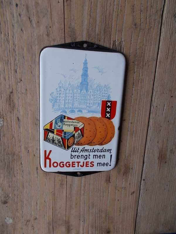 emaille deurpostbordje koggetjes amsterdam