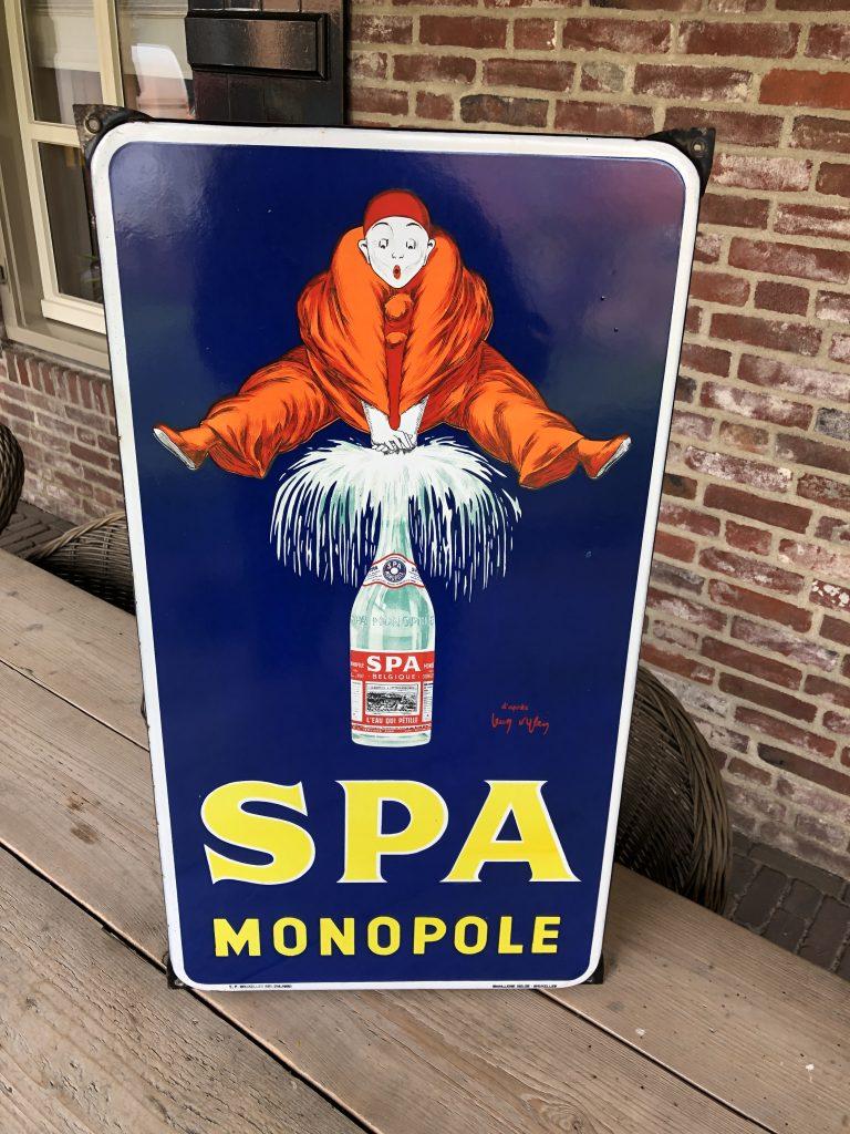 emaillen reklamebord spa monopole