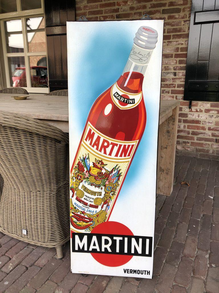 emaillen reklamebord martini vermouth