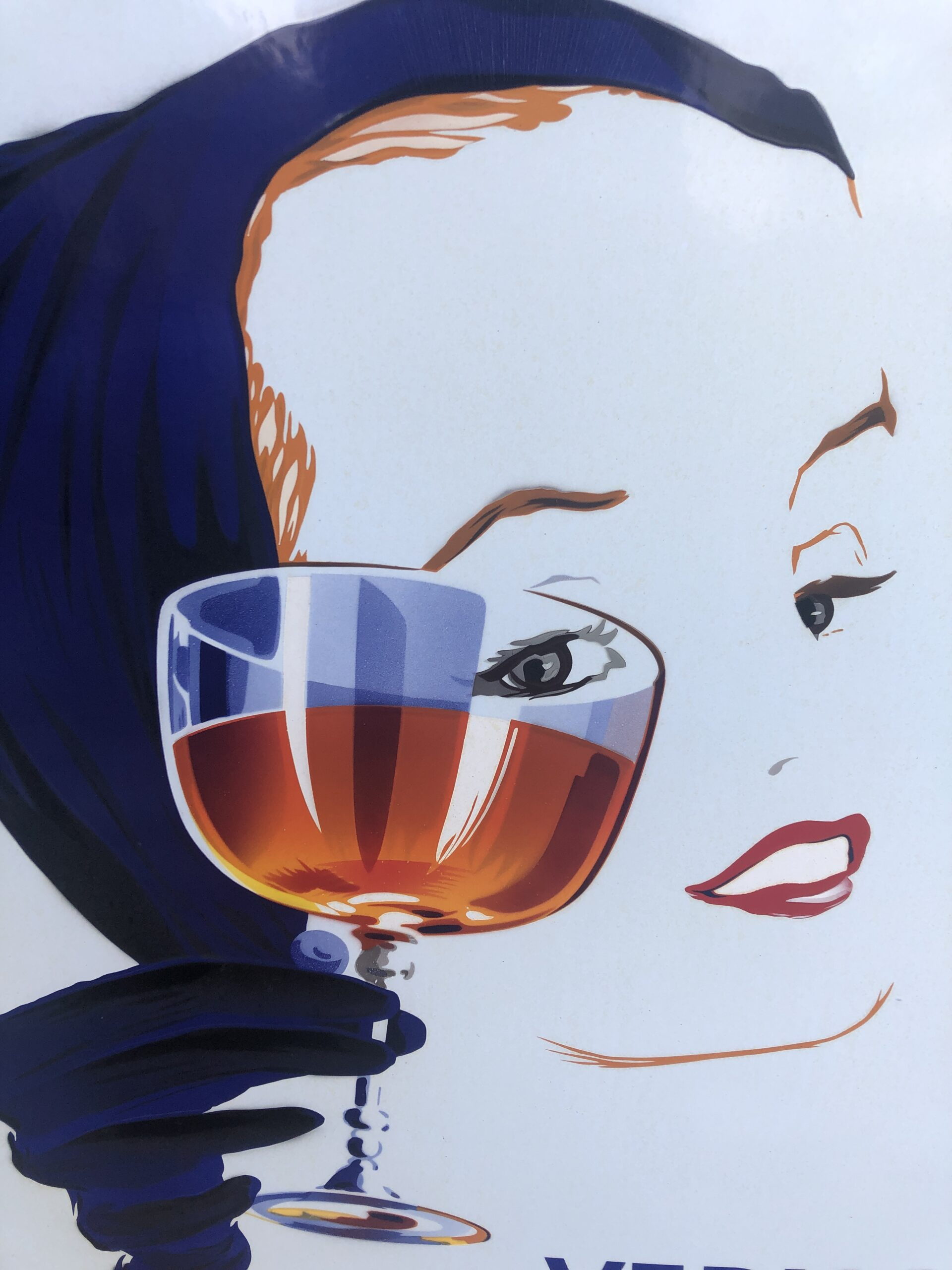 emaille reclamebord cinzano vermouth
